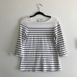 Tops - ASOS white and blue striped maternity top